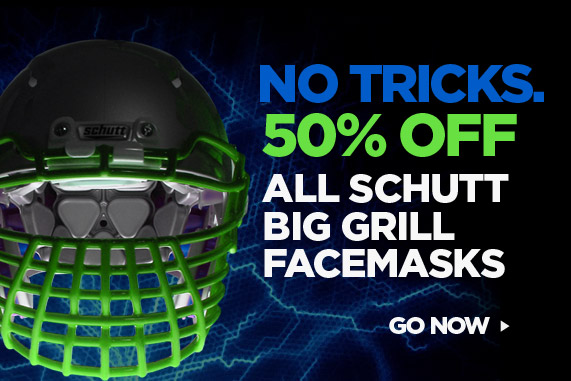 Big Grill Sale - 50% Off all Schutt Big Grill Facemasks