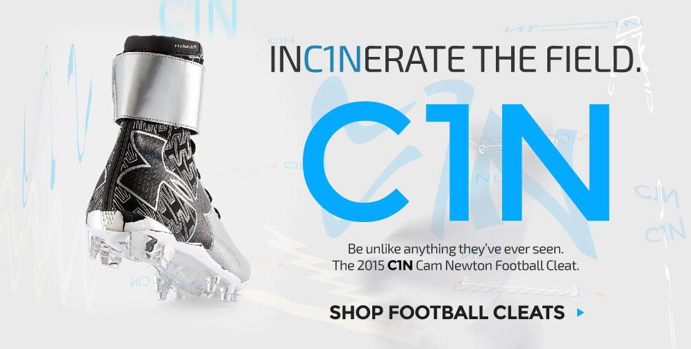 The all new C1N Cam Newton Football Cleats