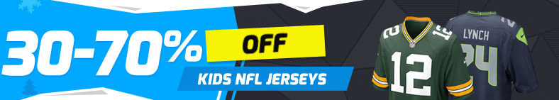 30-70% Off Kids NFL Jerseys