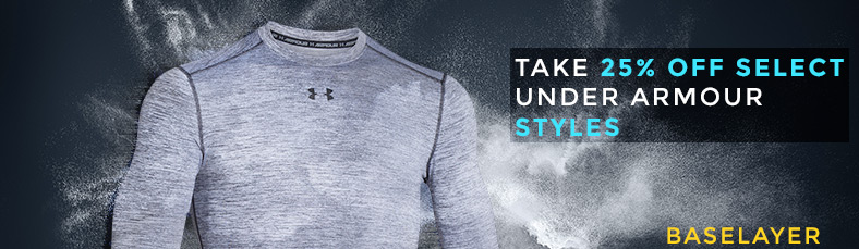 Take 25% off selected UNDER ARMOUR styles